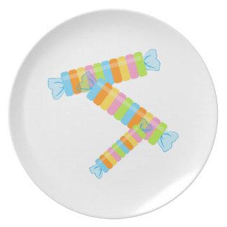 Candy Rolls Dinner Plate