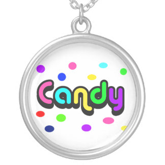Candy-round sterling silver necklace