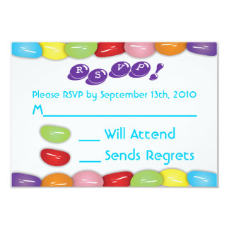 "Candy RSVP Card 3.5"" X 5"" Invitation Card"