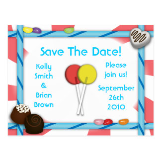 Candy Save-The-Date Postcard