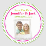 Candy Save the date Sticker with photo