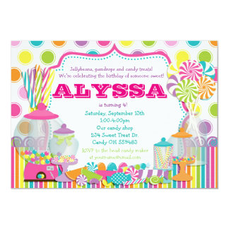 Candy Shop and Sweet Shoppe Party Invitation