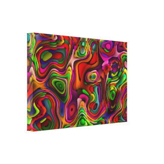 Candy Shop Chaos Stretched Canvas Print