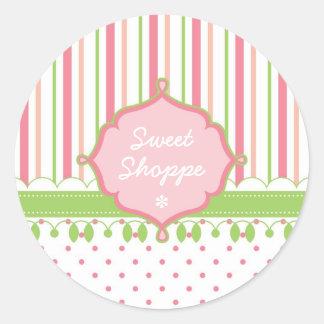 Candy Shop Custom Classic Round Sticker