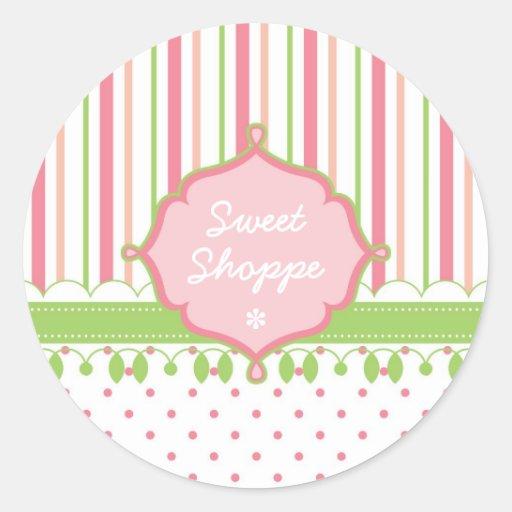 Candy Shop Custom Round Stickers