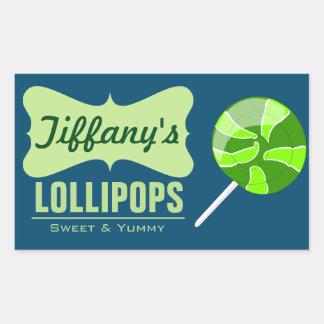 Candy Shop | Homemade Candies | Homemade Lollipops Rectangular Sticker