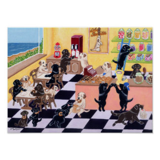 Candy Shop Labradors Artwork Poster