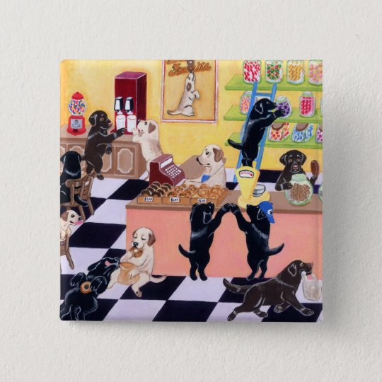 Candy Shop Labradors Button