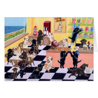 Candy Shop Labradors Greeting Cards