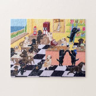 Candy Shop Labradors Jigsaw Puzzle