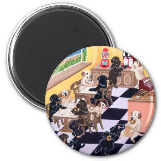 Candy Shop Labradors 2 Inch Round Magnet