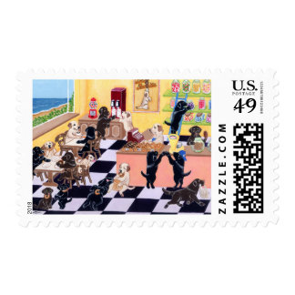 Candy Shop Labradors Postage Stamp