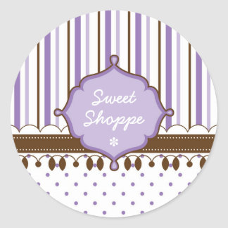 Candy Shop Lavender Custom Stickers