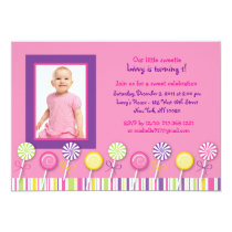 Candy Shop Lollipop Birthday Invitations