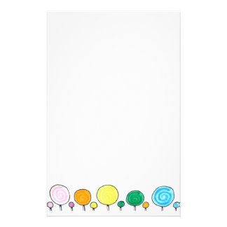 Candy Shop Lollipop Stationery (bottom only)