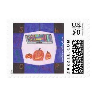 Candy Shop Stop Small Postage Stamps
