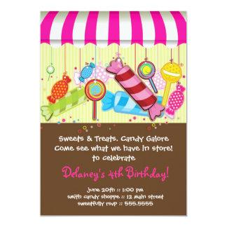Candy Shoppe Birthday Invitation