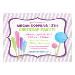 Candy Shoppe Birthday Party Invitation (purple)