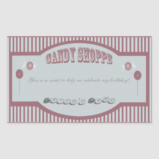 Candy Shoppe Stickers - Red