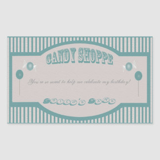 Candy Shoppe Stickers - Teal