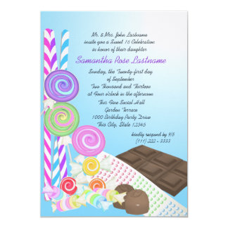 Candy Shoppe Sweet Sixteen Birthday Card