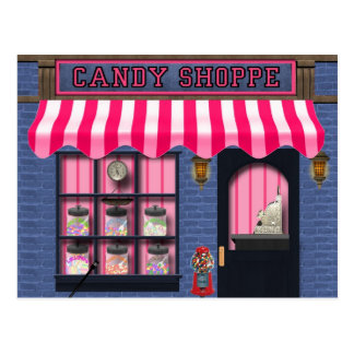 Candy Shoppe sweet treat postcard