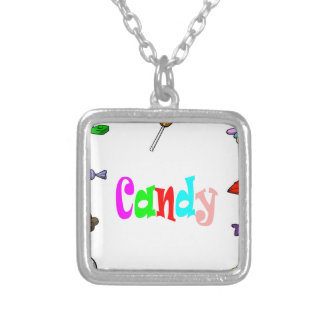 candy silver plated necklace