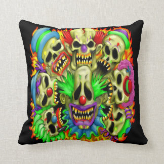 Candy Skull Clowns Pillow