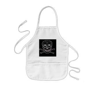Candy skull kids' apron