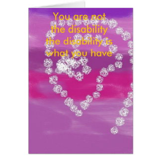 candy skys, You are not the disability the disa... Card