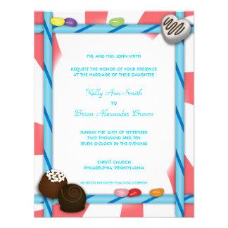 Candy Small Rectangular Invitation