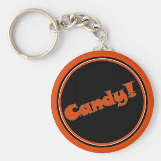 Candy Snappy Halloween Text Image Key Chain