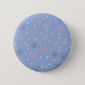 Candy snowflakes pinback button