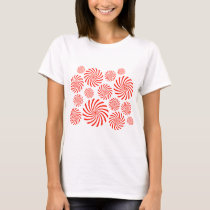 Candy Spiral Peppermint Swirl Design T-Shirt