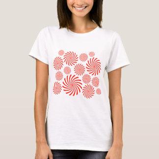 Candy Spiral Peppermint Swirl Design T-Shirt