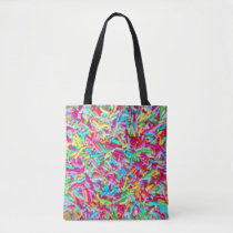 Candy Sprinkle Pattern Tote Bag
