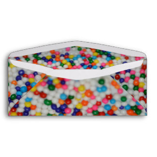 Candy Sprinkles Sweets Dessert Rainbow Pattern Envelope
