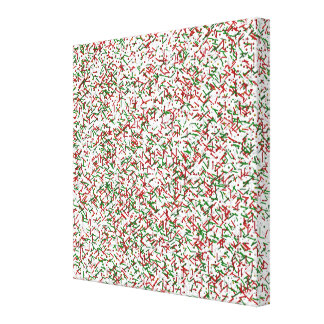 Candy Sprinkles with PolkaDots Canvas Print, White