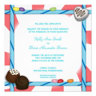Candy Square Invitation