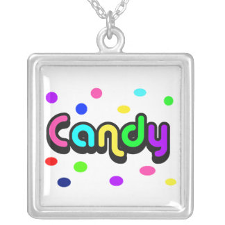 Candy-square sterling silver necklace