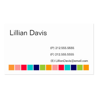 Candy Squares Business Card Templates