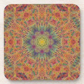 Candy Star Hexagram  Cork Coaster Set