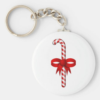 candy_stick Red White CandyCane Keychain