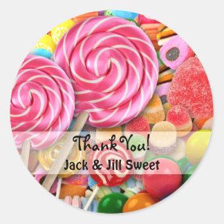Candy Sticker Sweet Sixteen Birthday Thank You