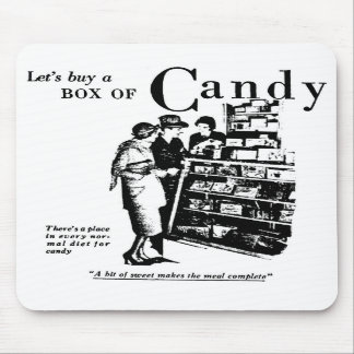 Candy Store 1930 Advertisement Mousepad