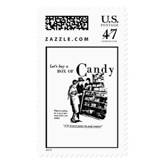 Candy Store 1930s vintage newspaper ad Postage Stamp