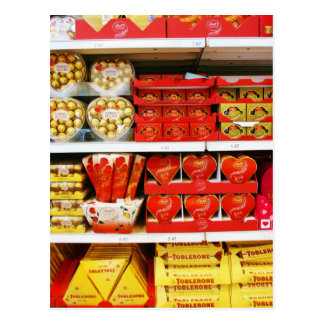 Candy Store Shelves Postcard