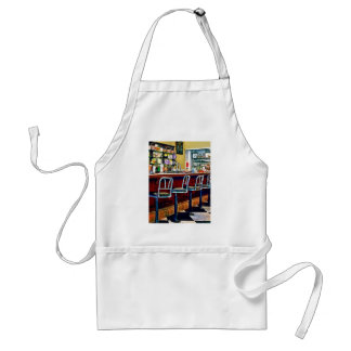 Candy Store With Soda Fountain Adult Apron