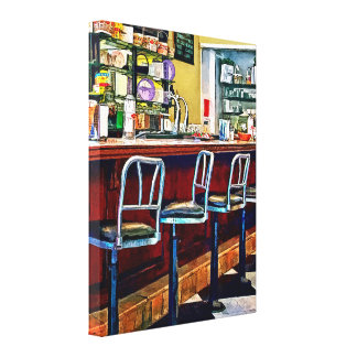 Candy Store With Soda Fountain Canvas Print