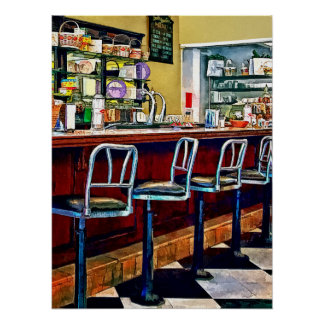 Candy Store With Soda Fountain Poster